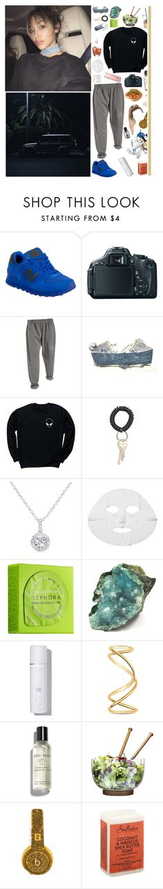 """1/10/17"" by naomi-saldana ❤ liked on Polyvore featuring Herbivore, New Balance, Canon, Levi's, CO, EWA, N°21, Sephora Collection, Eve Lom and Maison Margiela"