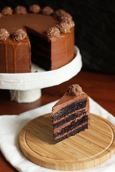 Chocolate Hazelnut cake with salted caramel and nutella cloud frosting.