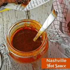 Nashville Hot Sauce Recipe + VIDEO - The Best Nashville Hot Chicken! - Nashville Hot Sauce is a regional hot sauce made from cayenne pepper, other spices and brown sugar. Served on fried chicken! Fried Chicken Sauce, Chicken Wing Sauces, Chicken Sauce Recipes, Hot Sauce Recipes, Kfc Hot Chicken Recipe, Kfc Hot Sauce Recipe, Fajita Recipe, Chicken Bites, Dip Recipes
