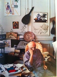 Picasso moved to Vallauris Golfe-Juan in 1947 and discovered ceramics, producing over 4,000 works at the Fournas workshop. He then moved to the Villa Californie in Mougins, a 19th century house just outside Cannes in 1953 and finally to Notre Dame de Vie where he lived for 12 years with his wife Jacqueline Roque and died in 1973.