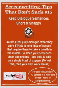 "FREE copy of the eBook Secrets to a Kick-Ass & Marketable Screenplay"""