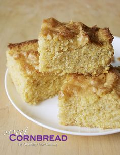 Sweet cornbread is so good paired with other fun potluck dishes! Sugar sprinkled on top makes this cornbread remarkable.