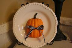 Simple Pumpkin Plate