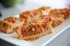 Recipe: Stuffed Tofu in Tomato Sauce – Đậu phụ nhồi thịt