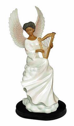 Heavenly Sound Angel Figurine Heavenly Visions: African American NEW SKU 63012