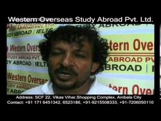 Study visa Consultant in Chandigarh. Student's father feedback about western overseas