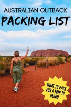 List For Outback Trip: What To Pack For Uluru, Australia Planning a trip to Uluru in Australia but not sure what you should bring with you? Check out this outback packing list to find out everything you might need.This This may refer to: Visit Australia, Australia Travel, Australia Funny, Cairns Australia, Travel Guides, Travel Tips, Travel Info, Travel Goals, Travel Hacks