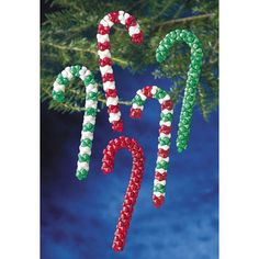 Candy Cane-beaded Ornament Kit