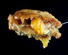 Butterscotch Caramel Peach Cobbler - yum!