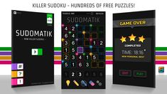 🏆 Over 500 killer sudoku puzzles. Each sudoku puzzle has been checked to have only one unique solution - guaranteed!    #sudoku #sumdoku #addoku #killersudoku #free #Android #Games #googleplaystore