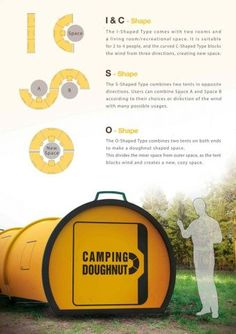 "The Camping Doughnut Is An ""Effortless"" Alternative To The Traditional Tent ... see more at InventorSpot.com Just concept right now , but I want 2! camping gear, best camping gear #camping"