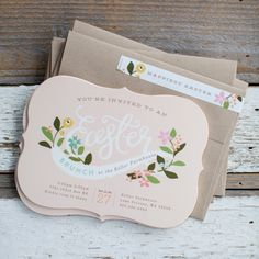 Spring is pretty much synonymous with yummy brunch inspired celebrations. Happily for us, JennyCookies has a gorgeous take on how to style yours. Stationery invitation available on Minted.com