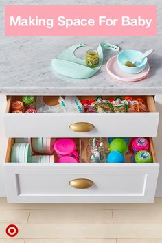 Cloud Island bowls and plates are made to stack so they easily fit into a kitchen drawer or cupboard. Cloud Island bowls and plates are made to stack so they easily fit into a kitchen drawer or cupboard. Baby Life Hacks, Baby Storage, Home Organization, Organizing, Baby Bedroom, Everything Baby, Baby Needs, Nursery Inspiration, Baby Time
