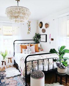 Fela Tassel Chandelier is part of Bohemian bedroom decor - Return and Refund Room Ideas Bedroom, Cozy Bedroom, Home Decor Bedroom, Bedroom Designs, Modern Bedroom, Eclectic Bedrooms, Small Bedrooms, Master Bedroom, Minimalist Bedroom