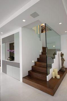 Shyam House Renovation: Case in stile di Architecture & Interiors, Moderno Home Stairs Design, Bungalow House Design, Home Room Design, Dream Home Design, Modern House Design, Home Interior Design, Interior Architecture, Modern Stairs Design, Modern Mansion Interior