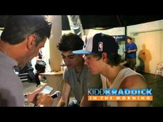 EXCLUSIVE Backstage One Direction Interview - Kidd Kraddick in the Morning I love this(: They are so cute singing the boy band songs(: