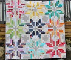 A Scrappy Norway Quilt. Made by Jade at Stitch Mischief. Norway quilt pattern by Thimble Blossoms.