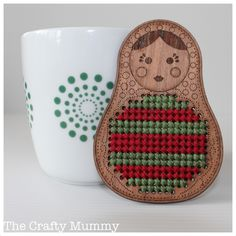 Babushka Cross Stitch Ornament - The Crafty Mummy Popsicle Stick Christmas Crafts, Christmas Crafts For Toddlers, Crochet Christmas Ornaments, Xmas Crafts, Christmas Tree, Cross Stitch Quotes, Simple Cross Stitch, Christmas Art Projects, Textiles