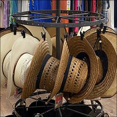 Justin Cowboy Hat Carousel Hangrail Retail Fixtures, Store Fixtures, Tractor Supply Company, Hat Display, Hat Stores, Cool Hats, Carousel, Country, Cool Stuff