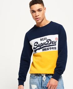 Stay cosy with our range of men's jumpers and knitwear, from classic crewnecks to perfect pullovers. Moda Junior, Superdry Style, Camisa Polo, Mens Jumpers, Dope Outfits, Crew Sweatshirts, Mens Tees, Lounge Wear, Sweatshirts