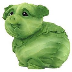 Amazon.com: Home Grown from Enesco Cabbage Piglet Figurine 3 IN: Home