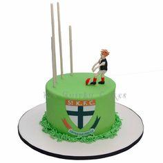 St Kilda Football Cake By Ks Quirky Cakes cakepins.com