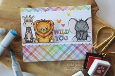 Wild And Colorful Card Kit: Action Wobble Accent - Simon Says Stamp Blog