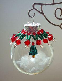 Christmas tree inside ornament