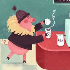 "104 Likes, 3 Comments - Gillian Reid (@gillianimation) on Instagram: ""Monday morning means #coffee time! See my website for full image! #kidlitart #illustration"""