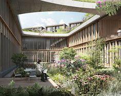 courtyard / herzog & de meuron chosen to build low-rise hospital in denmark