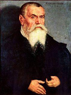 """""""Lucas Cranach der Ältere"""".  (c. 1550). Pintor alemão do Renascimento. (Kronach, c.1472 - Weimar, 16/Outubro/1553)"""