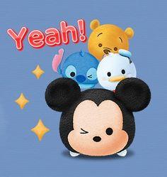 Disney tsum tsum Mickey, Pooh, Donald, Stitch