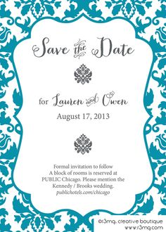 Union by r3mg – Save the Dates 2013 | r3mg:: creative boutique | Brocade, Damask Save the Dates | www.r3mg.com