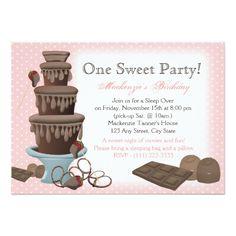 Movie Birthday Invitations Chocolate Fountain Movie Sleepover Card