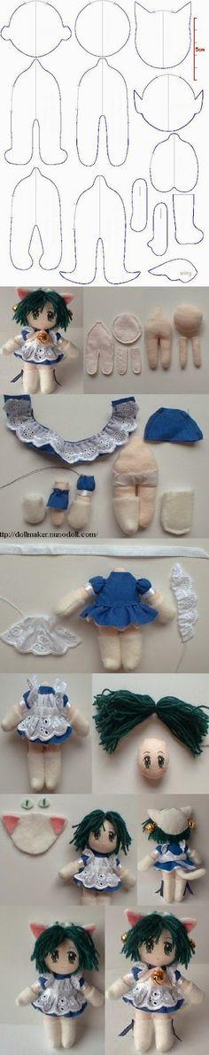 Tutoriales y DIYs: Patrón gratis: Peluche muñeca.