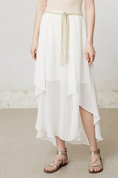 Kind of like this! Not sure about the back. Kerchief High-Low Maxi Skirt at Anthropologie