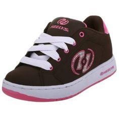 Heelys Little Kid/Big Kid Glitter Skate Shoe,Brown/Pink,12 M US Little Kid Heelys. $48.95