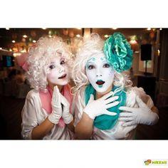 Mime Makeup, Female Clown, Cute Clown, Circus Clown, Clowns, Carnival, Folk, Board, Sexy