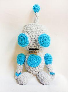 Robot GIR Invader Zim inspired Amigurumi