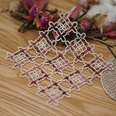 """""""라일락 블라썸 (c) 권혜인 @herua227  예쁜 헤루아님 도안~  #태팅 #태팅레이스 #손뜨개 #수공예 #핸드메이드 #레이스 #lacework #tatting #tattinglace #handmade #handmadelace"""""""