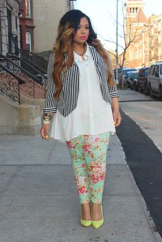 Love this Look! Mixing Prints!