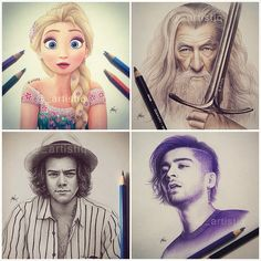 Check out my 1D & movie artworks! ☺️ @_artistiq_art @artistioners