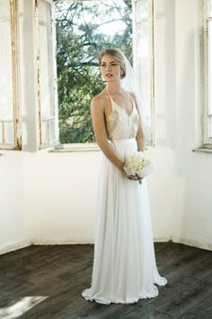 Sequin bodice bridal gown