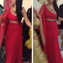 Vestido Longo de Renda largo rojo Vestido de noche árabe vestidos de noche largo vestidos formales vestidos gasa del partido(China (Mainland))