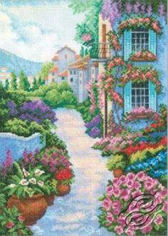 CROSS STITCH KITS - RTO - Cross Stitch Kits - Cities & Landcapes - Blooming Town - Gvello Stitch