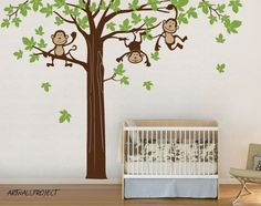 great idea for a kid's room..More monkeys