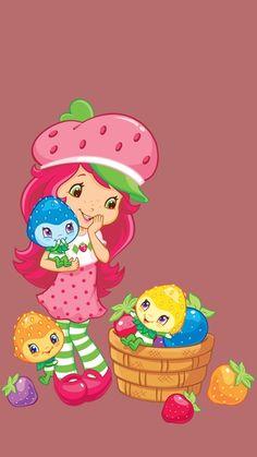 Strawberry Shortcake Cartoon, Homemade Stickers, Pink Love, Cute Wallpapers, Princess Peach, Hello Kitty, Berries, Iphone Cases, Clip Art