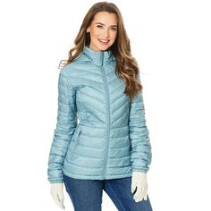 32 Degrees Packable Down Jacket with Detachable Hood Plum Shadow $49.99 - Boscov's