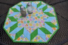Quilted Easter Table Topper Quilt Easter Egg Spring Decor