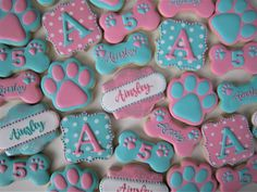 Girly Paw Patrol cookies/Girl paw patrol/dog cookies @fingerhutcakes
